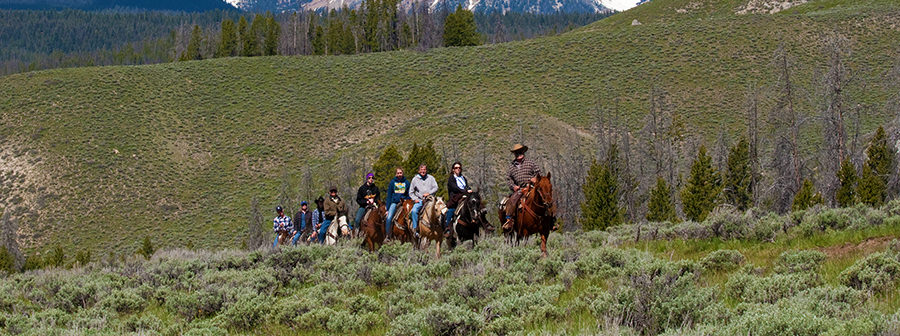 Idaho Rocky Mountain Ranch Horseback Riding