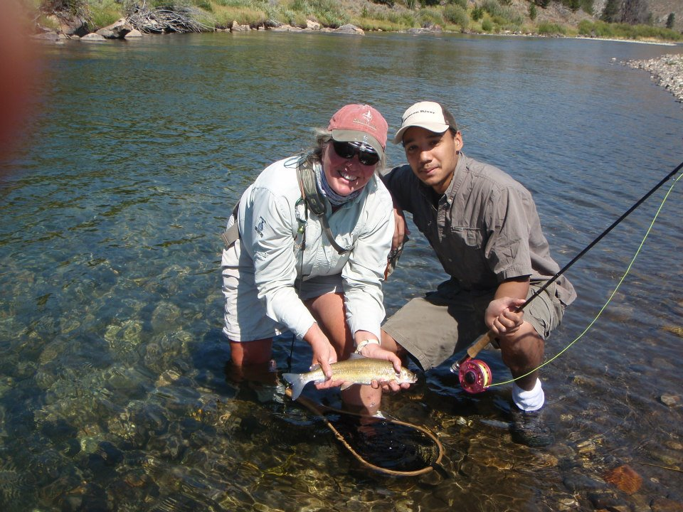 Mary Ann and Matt Fly Fishing