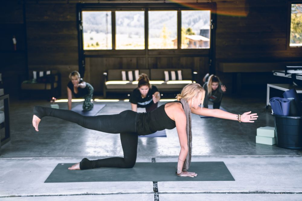 Yoga session at Idaho Rocky Mountain Ranch