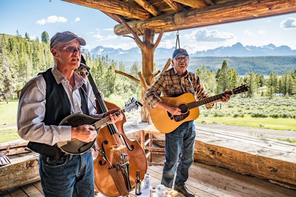 Outdoor music performance at Idaho Rocky Mountain Ranch